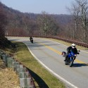 Spring riders on the Cherohala Skyway