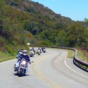 Riders on the Cherohala Skyway