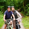 Couple Bicycling in McDowell County